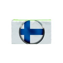 Finland Country Flag Countries Cosmetic Bag (xs) by Nexatart