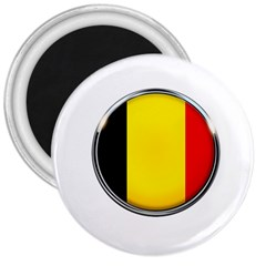 Belgium Flag Country Brussels 3  Magnets by Nexatart