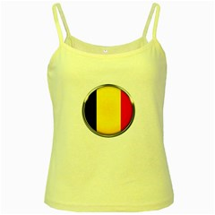 Belgium Flag Country Brussels Yellow Spaghetti Tank