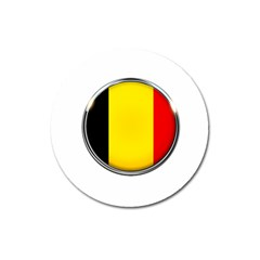 Belgium Flag Country Brussels Magnet 3  (round) by Nexatart