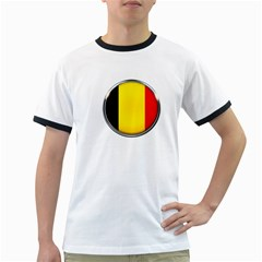 Belgium Flag Country Brussels Ringer T Shirts