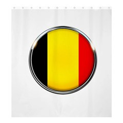 Belgium Flag Country Brussels Shower Curtain 66  X 72  (large)  by Nexatart