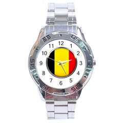 Belgium Flag Country Brussels Stainless Steel Analogue Watch