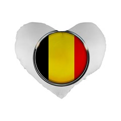 Belgium Flag Country Brussels Standard 16  Premium Flano Heart Shape Cushions