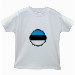Estonia Country Flag Countries Kids White T Shirts