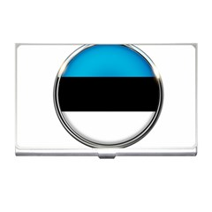 Estonia Country Flag Countries Business Card Holders by Nexatart