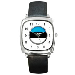 Estonia Country Flag Countries Square Metal Watch