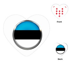 Estonia Country Flag Countries Playing Cards (heart)