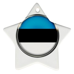 Estonia Country Flag Countries Star Ornament (two Sides)