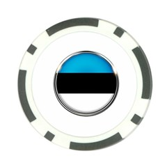 Estonia Country Flag Countries Poker Chip Card Guard (10 Pack)