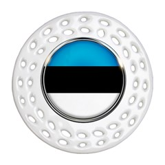 Estonia Country Flag Countries Ornament (round Filigree)