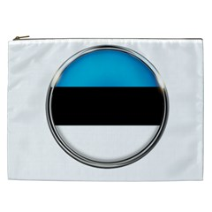 Estonia Country Flag Countries Cosmetic Bag (xxl)  by Nexatart