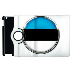 Estonia Country Flag Countries Apple Ipad 2 Flip 360 Case by Nexatart