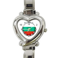 Bulgaria Country Nation Nationality Heart Italian Charm Watch