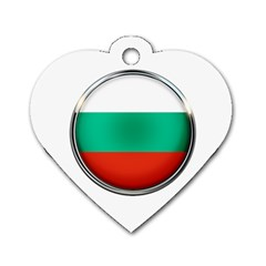 Bulgaria Country Nation Nationality Dog Tag Heart (one Side)