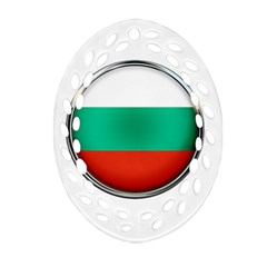 Bulgaria Country Nation Nationality Ornament (oval Filigree) by Nexatart