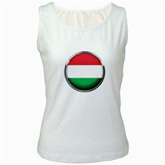 Hungary Flag Country Countries Women s White Tank Top