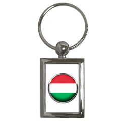 Hungary Flag Country Countries Key Chains (rectangle)  by Nexatart