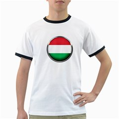 Hungary Flag Country Countries Ringer T Shirts