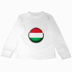 Hungary Flag Country Countries Kids Long Sleeve T Shirts