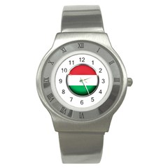 Hungary Flag Country Countries Stainless Steel Watch