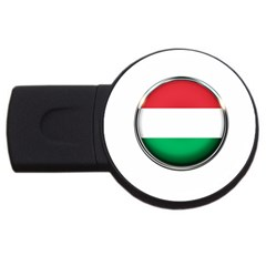 Hungary Flag Country Countries Usb Flash Drive Round (4 Gb) by Nexatart