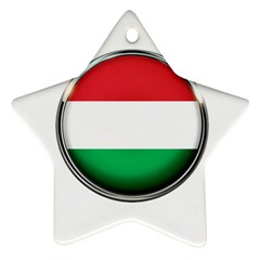 Hungary Flag Country Countries Star Ornament (two Sides)