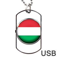 Hungary Flag Country Countries Dog Tag Usb Flash (one Side) by Nexatart