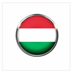 Hungary Flag Country Countries Large Satin Scarf (square) by Nexatart