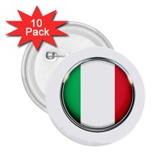 Italy Country Nation Flag 2 25  Buttons (10 Pack)