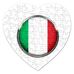 Italy Country Nation Flag Jigsaw Puzzle (heart)