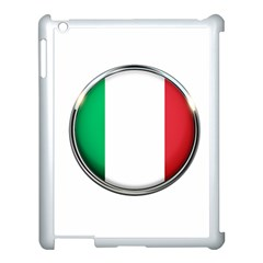 Italy Country Nation Flag Apple Ipad 3/4 Case (white) by Nexatart