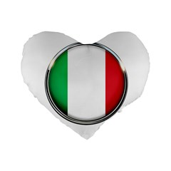 Italy Country Nation Flag Standard 16  Premium Heart Shape Cushions