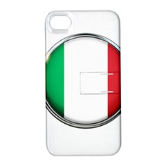 Italy Country Nation Flag Apple Iphone 4/4s Hardshell Case With Stand