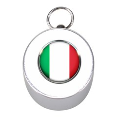 Italy Country Nation Flag Mini Silver Compasses by Nexatart