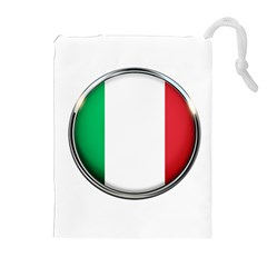 Italy Country Nation Flag Drawstring Pouches (extra Large) by Nexatart