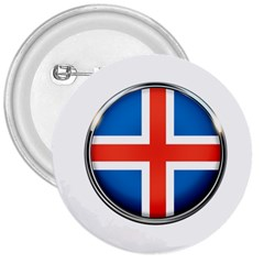 Iceland Flag Europe National 3  Buttons by Nexatart