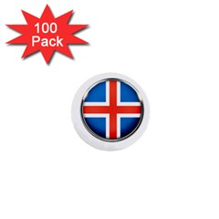 Iceland Flag Europe National 1  Mini Buttons (100 Pack)  by Nexatart