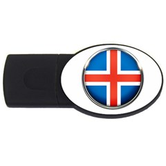 Iceland Flag Europe National Usb Flash Drive Oval (4 Gb) by Nexatart