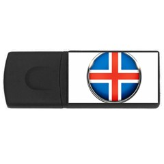 Iceland Flag Europe National Rectangular Usb Flash Drive