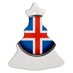 Iceland Flag Europe National Christmas Tree Ornament (two Sides)