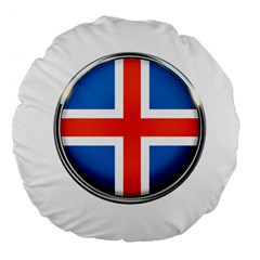 Iceland Flag Europe National Large 18  Premium Round Cushions