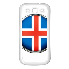 Iceland Flag Europe National Samsung Galaxy S3 Back Case (white)