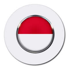 Monaco Or Indonesia Country Nation Nationality Round Mousepads