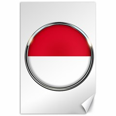 Monaco Or Indonesia Country Nation Nationality Canvas 24  X 36