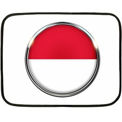 Monaco Or Indonesia Country Nation Nationality Double Sided Fleece Blanket (mini)  by Nexatart