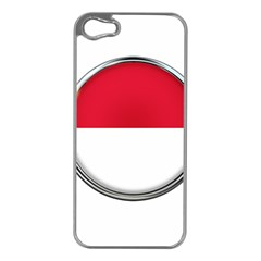 Monaco Or Indonesia Country Nation Nationality Apple Iphone 5 Case (silver)