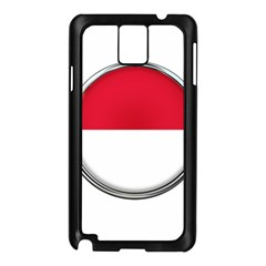 Monaco Or Indonesia Country Nation Nationality Samsung Galaxy Note 3 N9005 Case (black)