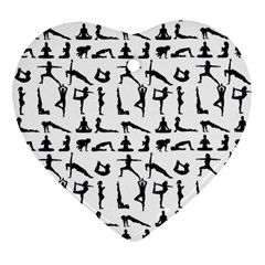 Yoga Pattern Ornament (heart)