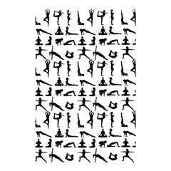 Yoga Pattern Shower Curtain 48  X 72  (small)  by Valentinaart
